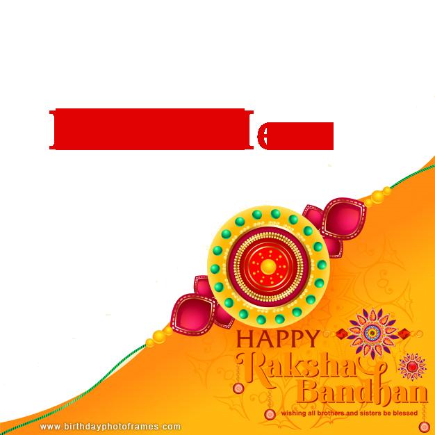 Beautiful Happy Raksha Bandhan Greetings Card with Photo