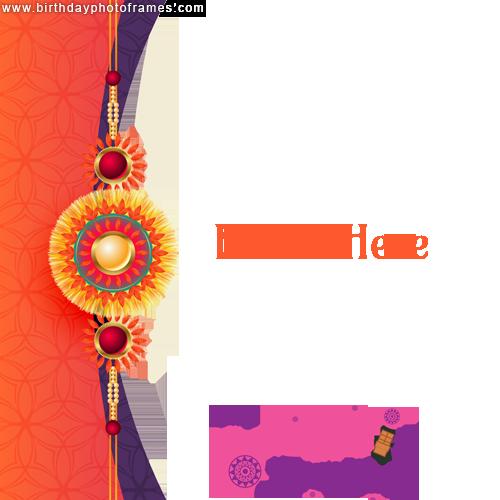 Best Happy Raksha Bandhan 2021 greeting card with photo