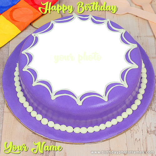 Birthday Cake Wishes with Name and Photo