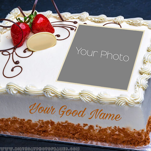 Birthday cake with name and photo editor online free