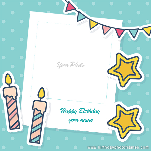 Birthday card design with photo