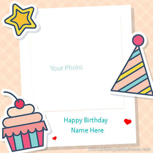 Birthday card maker with photo