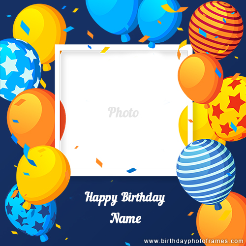 Birthday card with name and photo