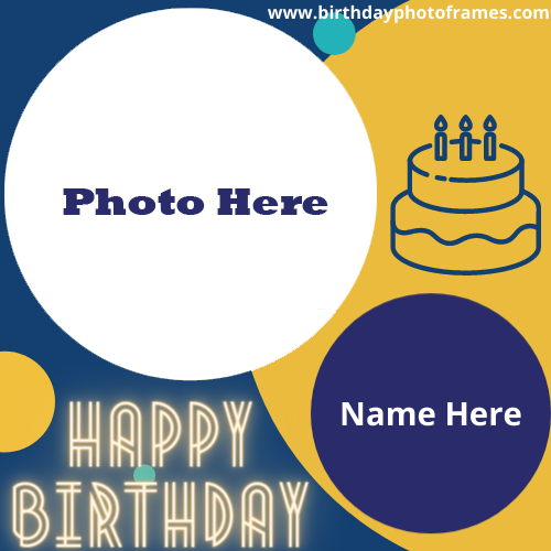 Create Happy Birthday Card with Name And Photo