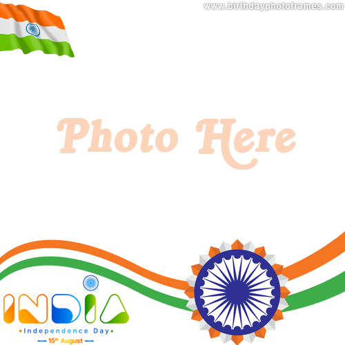 Create Happy Independence Day Card with Photoframe
