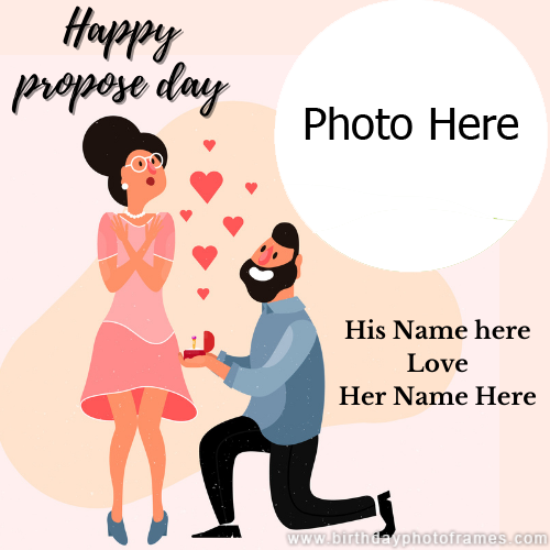 Create Happy Propose Day Image with Name & Photo