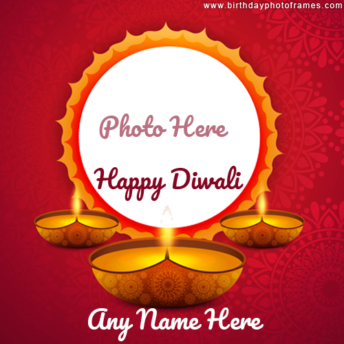 Create Personalized Happy Diwali Photo frame for 2020