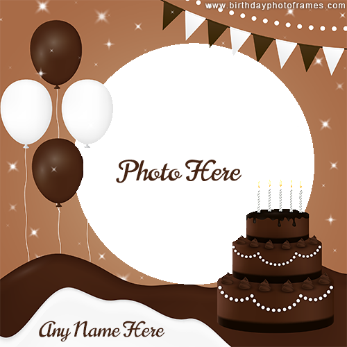 Create Special Happy Birthday Card with Name and Photo