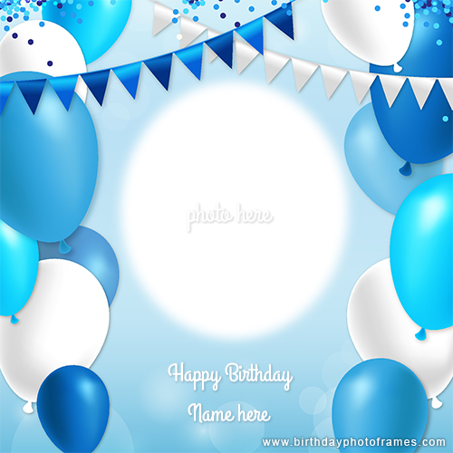 Create birthday card with photo