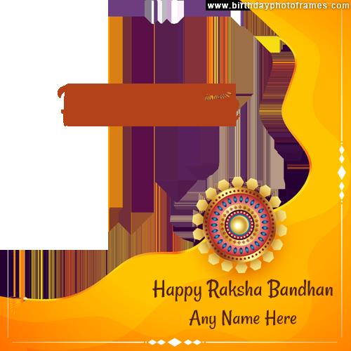 Customize Happy Raksha Bandhan 2021 card with Name and Photo
