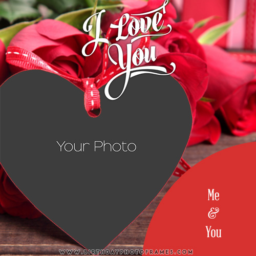 Edit Photo Frame with Love Shaped Hearts Online