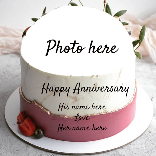 Happy Anniversary Greetings with Name and Edit Option