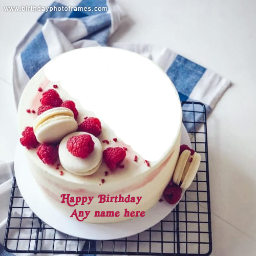 Happy Birthday Cake with Name and Photo Download
