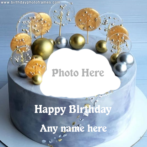 Happy Birthday Decoration Cake with Name and Photo
