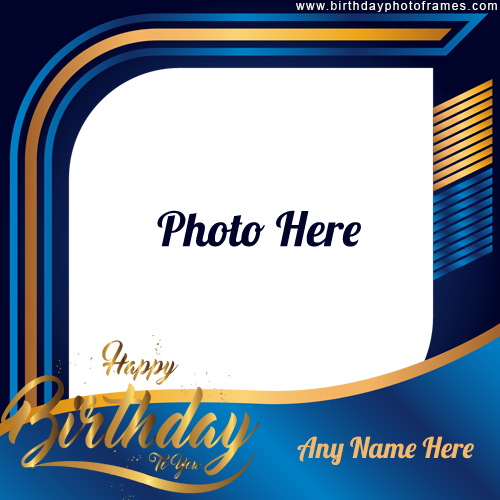 Happy Birthday Special Card with Name and Photo Editor