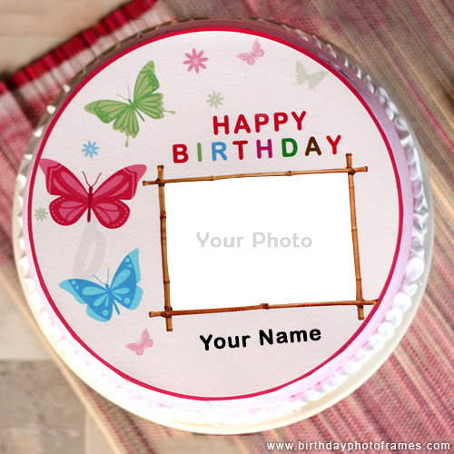 Happy Birthday Wishes with Name and Photo Upload Feature