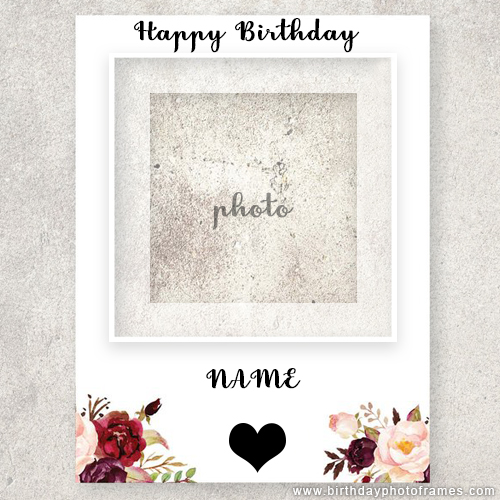 Happy Birthday card with photo insert