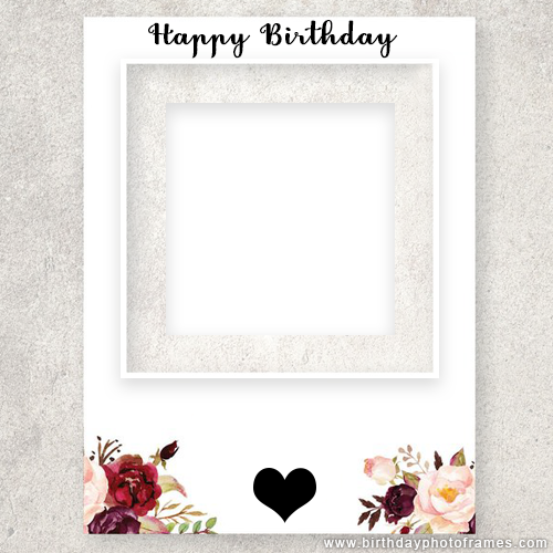 Hy Birthday Card With Photo Insert