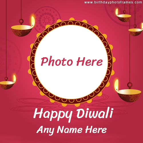 Happy Diwali Card with Name and photo online