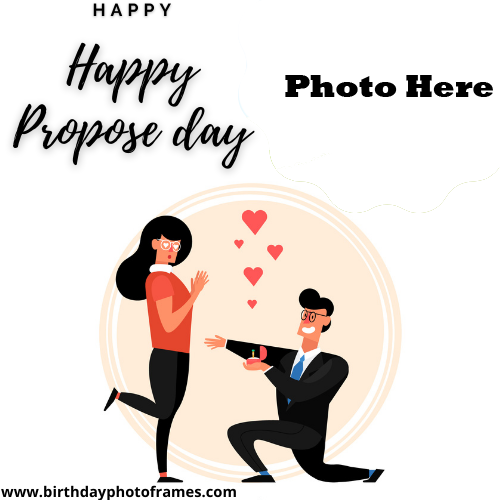 Happy  Propose day 2022 Wishes With Photo Editor