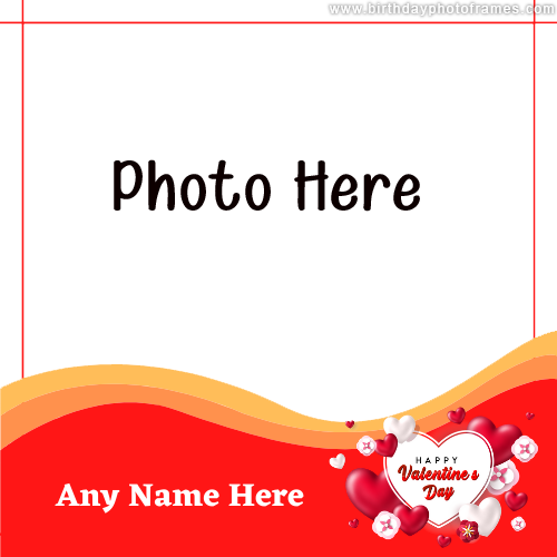 Happy Valentines Day 2021 wishing card with photo
