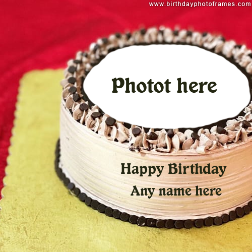 Happy birthday Cake with Name and Photo editing Image