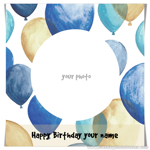 Happy birthday card maker with photo