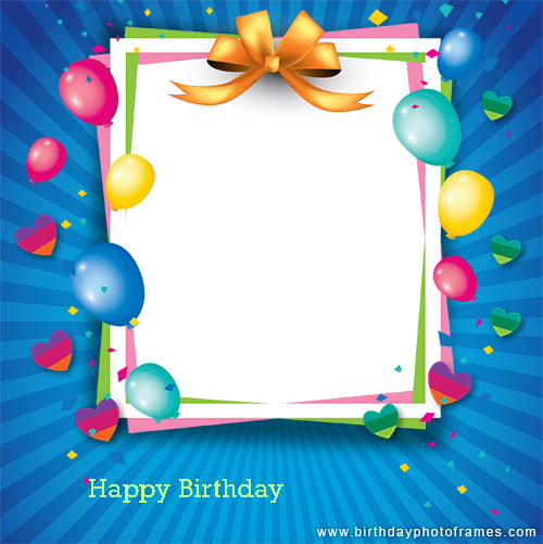 Happy birthday card photo editor