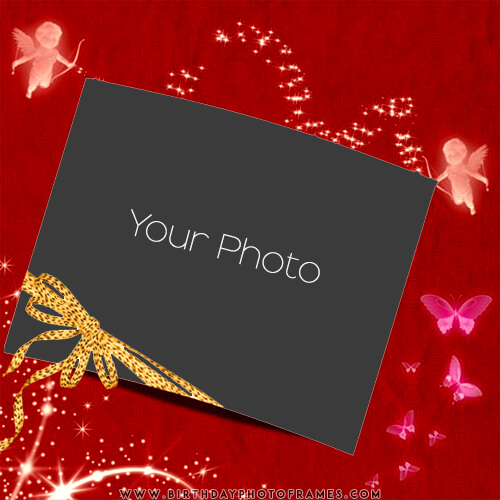 I love you photo frame free editing