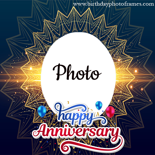 Online Happy Anniversary Card with Photo Editor