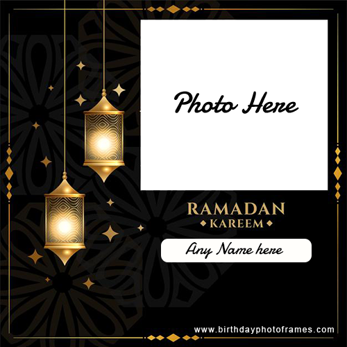 Ramadan Kareem image with Name and photo editor