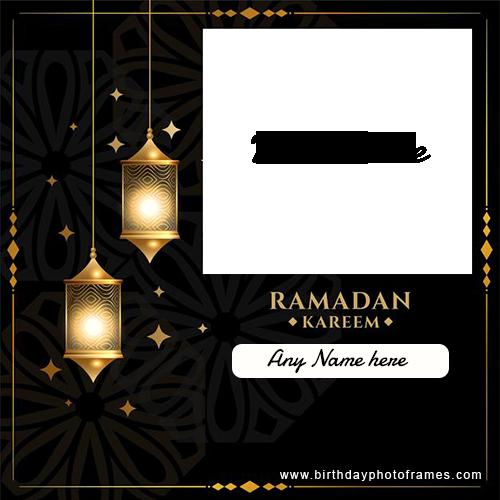 Ramadan Kareem image with Name and photo editor