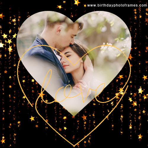 Romantic Couple Love photo frame Free Online
