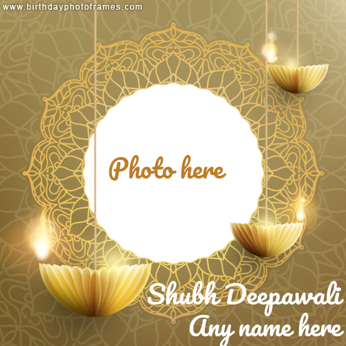 Shubh Deepawali Card with Name and Photo editor