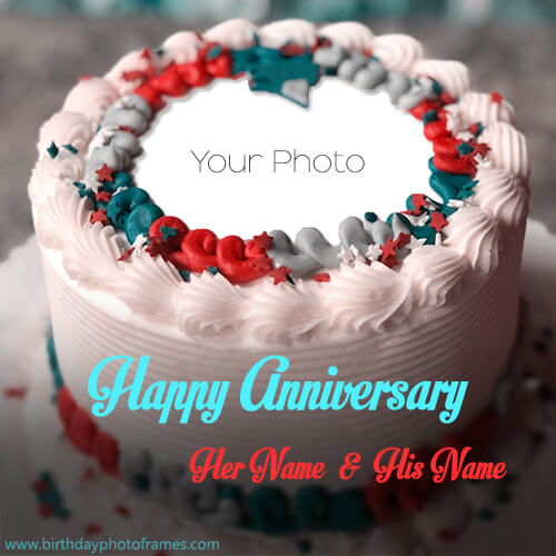 Wedding Anniversary Wishes with photo and cake