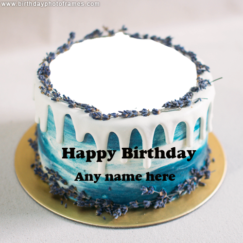 Write Your Name and Upload Photo on Cake for Happy Birthday Wishes