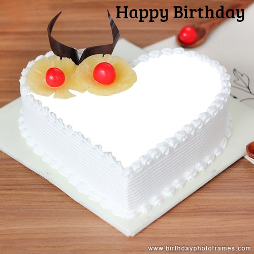 Write On Happy Birthday Cake With Name And Photo