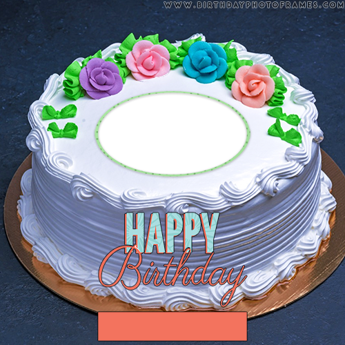 Wondrous Beautiful Birthday Cake With Name And Photo Edit Funny Birthday Cards Online Elaedamsfinfo