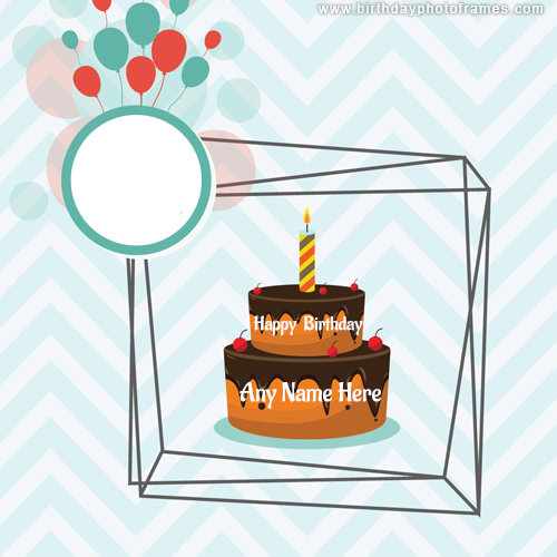 beautiful birthday cake with name photo frame free edit