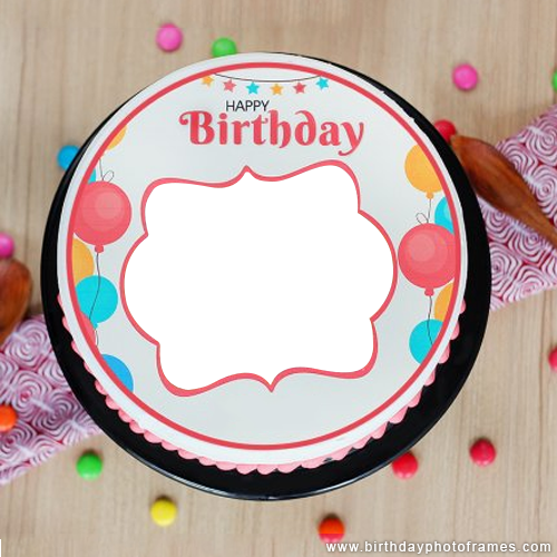 birthday cake with name and photo edit online