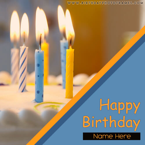 birthday card with name and photo editor online