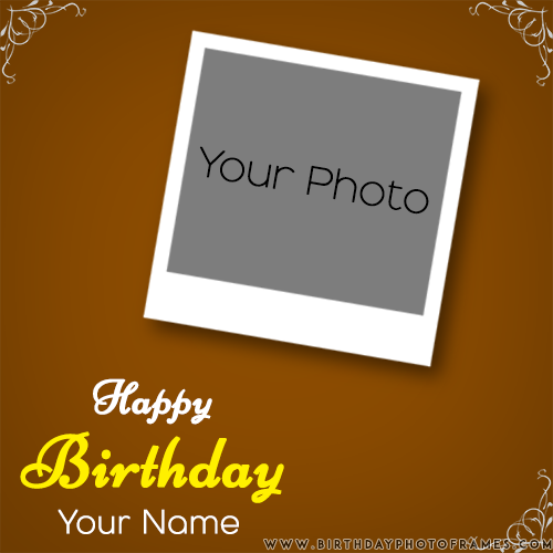 birthday card with photo editing