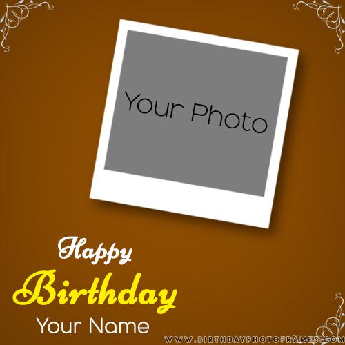 birthday card with photo editing