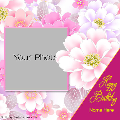 birthday greeting card with name and photo