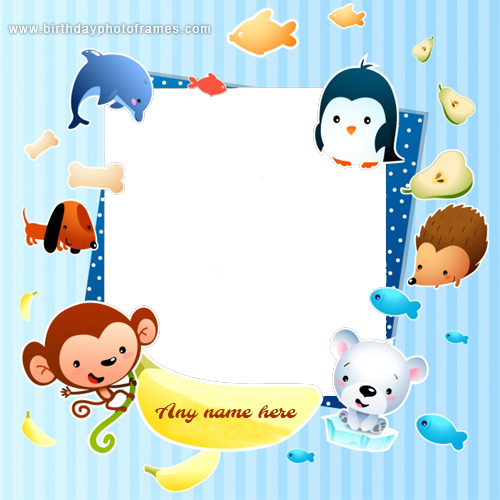 cool Selfie photo frame with name