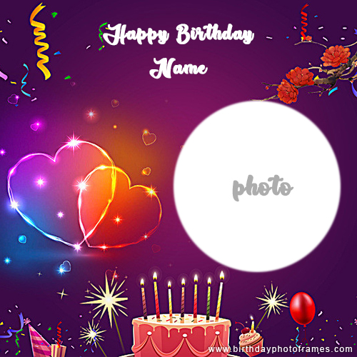 Awesome Popular Birthday Wishes Greeting Card With Name And Photo Personalised Birthday Cards Paralily Jamesorg