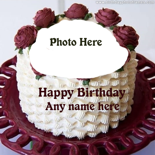 created Happy Birthday wishes Cake with name and Photo