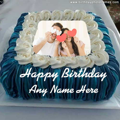 free happy birthday cake with name and photo edit