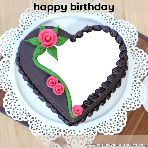 Swell Happiest Birthday Ever With Chocolate Cake With Name And Photo Personalised Birthday Cards Petedlily Jamesorg