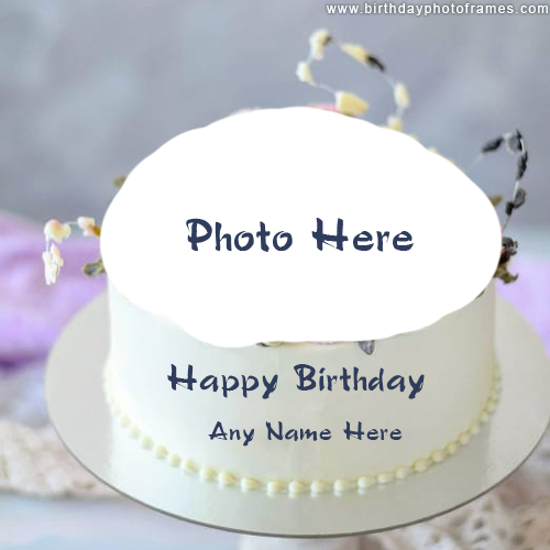 happy birthday cake with name and photo edit download